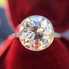 3.45ct Edwardian Old European Cut Diamond Bezel Ring 13