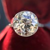 3.45ct Edwardian Old European Cut Diamond Bezel Ring 14