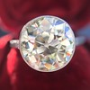 3.45ct Edwardian Old European Cut Diamond Bezel Ring 15