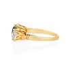 3.67ctw Colombian Emerald and Old European Cut Diamond 3-Stone Ring with AGL 3