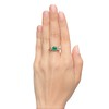 3.67ctw Colombian Emerald and Old European Cut Diamond 3-Stone Ring with AGL 2