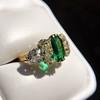 4.00ctw Antique Emerald and Diamond Ring 22