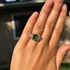 4.00ctw Antique Emerald and Diamond Ring 13