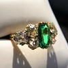 4.00ctw Antique Emerald and Diamond Ring 24