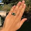 4.00ctw Antique Emerald and Diamond Ring 7