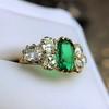 4.00ctw Antique Emerald and Diamond Ring 16