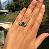 4.00ctw Antique Emerald and Diamond Ring 9