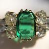 4.00ctw Antique Emerald and Diamond Ring 26