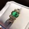 4.00ctw Antique Emerald and Diamond Ring 21
