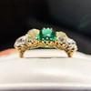 4.00ctw Antique Emerald and Diamond Ring 17