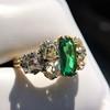 4.00ctw Antique Emerald and Diamond Ring 23
