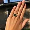 4.00ctw Antique Emerald and Diamond Ring 11