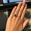 4.00ctw Antique Emerald and Diamond Ring 12