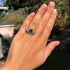 4.00ctw Antique Emerald and Diamond Ring 6