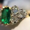 4.00ctw Antique Emerald and Diamond Ring 27