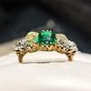 4.00ctw Antique Emerald and Diamond Ring 2