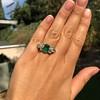 4.00ctw Antique Emerald and Diamond Ring 8