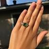 4.00ctw Antique Emerald and Diamond Ring 10