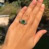 4.00ctw Antique Emerald and Diamond Ring 3