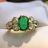 4.00ctw Antique Emerald and Diamond Ring 0