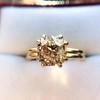 4.03ct Antique Cushion Cut Diamond, Fancy Light Brown Diamond Ring, GIA 13
