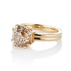4.03ct Antique Cushion Cut Diamond, Fancy Light Brown Diamond Ring, GIA 1