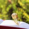 4.03ct Antique Cushion Cut Diamond, Fancy Light Brown Diamond Ring, GIA 8