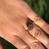 4.03ct Antique Cushion Cut Diamond, Fancy Light Brown Diamond Ring, GIA 26