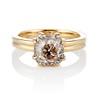 4.03ct Antique Cushion Cut Diamond, Fancy Light Brown Diamond Ring, GIA 0