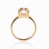 4.03ct Antique Cushion Cut Diamond, Fancy Light Brown Diamond Ring, GIA 3