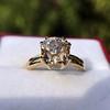 4.03ct Antique Cushion Cut Diamond, Fancy Light Brown Diamond Ring, GIA 19