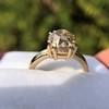 4.03ct Antique Cushion Cut Diamond, Fancy Light Brown Diamond Ring, GIA 24