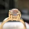 4.03ct Antique Cushion Cut Diamond, Fancy Light Brown Diamond Ring, GIA 7