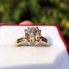 4.03ct Antique Cushion Cut Diamond, Fancy Light Brown Diamond Ring, GIA 25