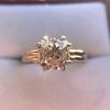4.03ct Antique Cushion Cut Diamond, Fancy Light Brown Diamond Ring, GIA 18