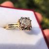 4.03ct Antique Cushion Cut Diamond, Fancy Light Brown Diamond Ring, GIA 23