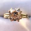 4.03ct Antique Cushion Cut Diamond, Fancy Light Brown Diamond Ring, GIA 12