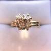 4.03ct Antique Cushion Cut Diamond, Fancy Light Brown Diamond Ring, GIA 17