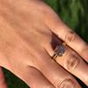 4.03ct Antique Cushion Cut Diamond, Fancy Light Brown Diamond Ring, GIA 28