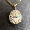 4.25ctw Antique Pear Shaped Diamond Cluster Pendant/Ring GIA G SI1 2