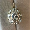 4.25ctw Antique Pear Shaped Diamond Cluster Pendant/Ring GIA G SI1 11