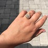 4.25ctw Antique Pear Shaped Diamond Cluster Pendant/Ring GIA G SI1 15