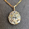 4.25ctw Antique Pear Shaped Diamond Cluster Pendant/Ring GIA G SI1 6