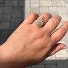 4.25ctw Antique Pear Shaped Diamond Cluster Pendant/Ring GIA G SI1 14