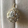4.25ctw Antique Pear Shaped Diamond Cluster Pendant/Ring GIA G SI1 10