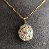 4.25ctw Antique Pear Shaped Diamond Cluster Pendant/Ring GIA G SI1 8