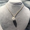 4.25ctw Antique Pear Shaped Diamond Cluster Pendant/Ring GIA G SI1 23