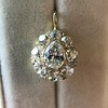 4.25ctw Antique Pear Shaped Diamond Cluster Pendant/Ring GIA G SI1 9