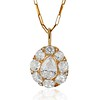 4.25ctw Antique Pear Shaped Diamond Cluster Pendant/Ring GIA G SI1 0