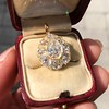 4.25ctw Antique Pear Shaped Diamond Cluster Pendant/Ring GIA G SI1 4